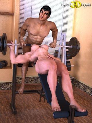 horny gym fuck