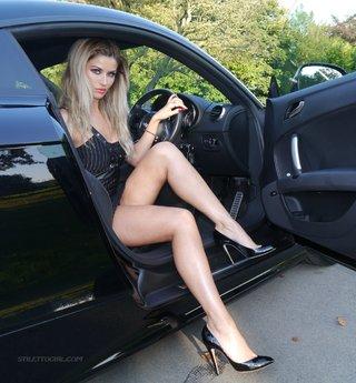 shiny high heels blonde