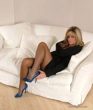 beautiful nylon feet