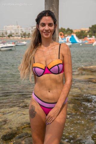 natural boobs real bikini