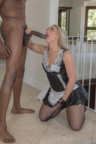 uniform black lingerie fuck