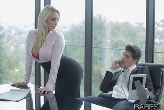 secretary big tits