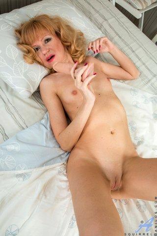 cute skinny blonde mature