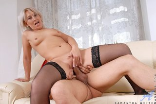small tits horny mature