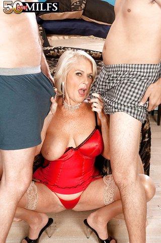 big tits threesome sex