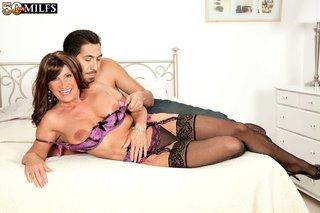 big tits mature stocking