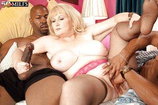 raunchy interracial threesome