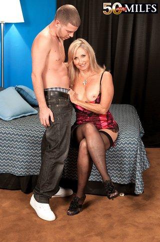 blonde stockings sex
