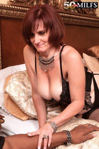 sexy mature interracial anal