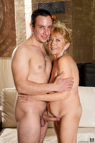 mature blonde her knees