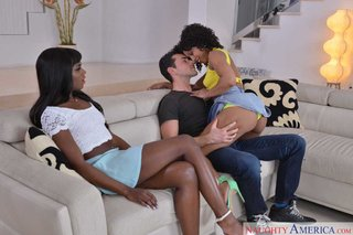 ebony facial threesome