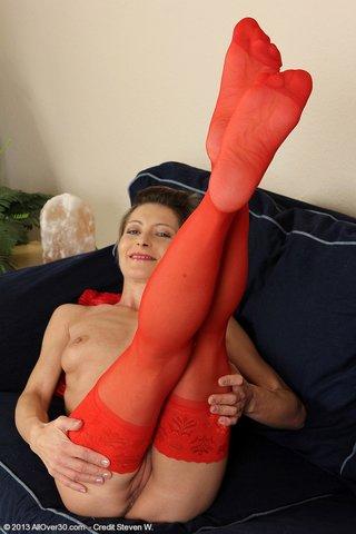 slim mature woman