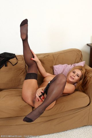 hungarian blonde ass stockings