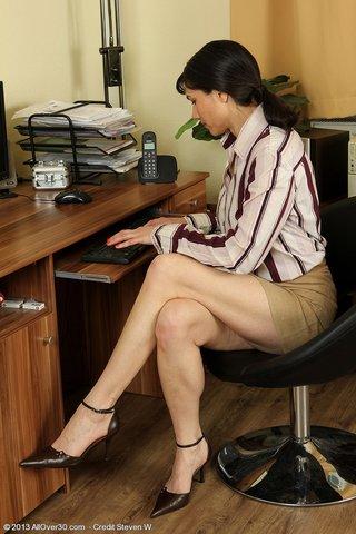 tiny tits boob secretary