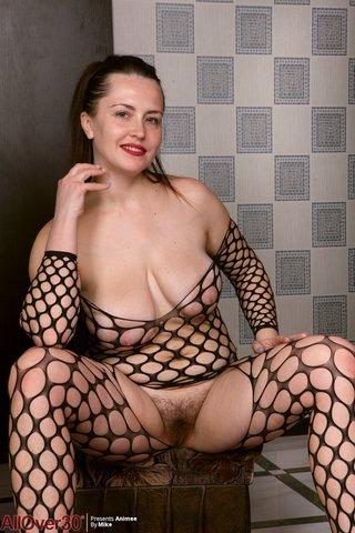 saggy tits fishnet feet