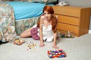 stripping redhead amateur