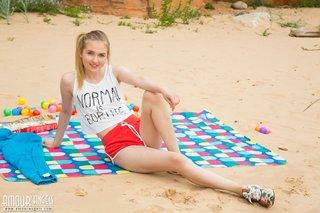 skinny beach teen