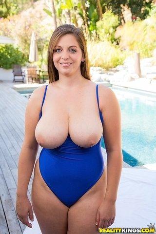american curvy swimsuit