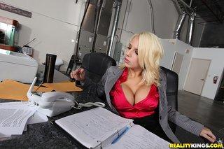 american blonde busty milf