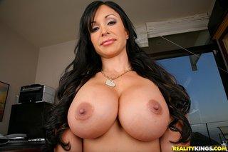 american brunette busty milf