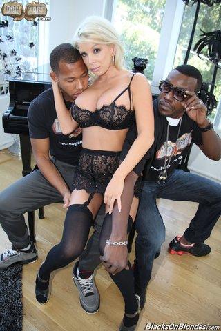 american interracial lingerie threesome
