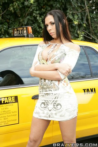 american brunette taxi big