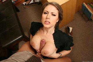 american blonde boob secretary