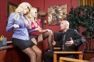 blonde milfs hot threesome