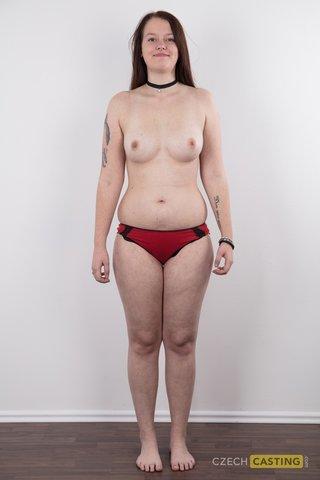 czech brunette model casting