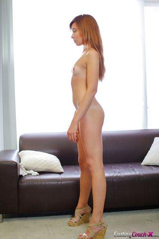 american juicy skinny brunette