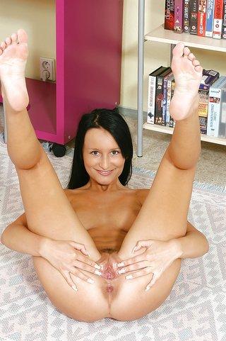 busty anal dildo masturbation