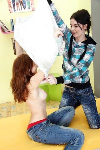 stripping lesbian teen girl