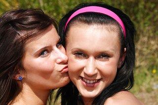 brunette hot teen lesbians