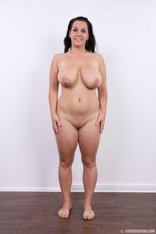 chubby european brunette