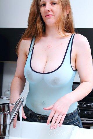 saggy chubby redhead