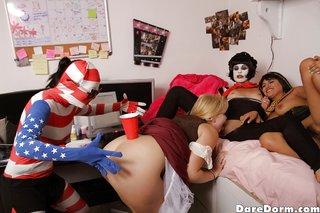 american lesbian threesome dorm