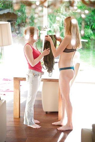 blonde lesbian dress