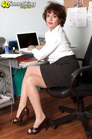 american busty milf secretary